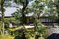 Japanese garden in Daigoji temple, Kyoto Royalty Free Stock Photo