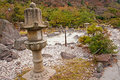 Japanese garden in the onsen hot springs beepu Stock Photography
