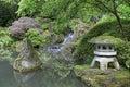 Japanese Garden Pond Royalty Free Stock Photo