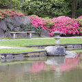 Japanese garden seattle is an example of simplicity and elegance Stock Images