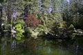 Japanese garden Spokane Royalty Free Stock Photo