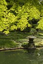 Japanese Garden, Stone Sculpture Royalty Free Stock Images