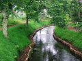 Japanese garden stream or brook Stock Photography