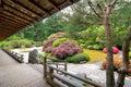 Japanese Garden from the Veranda Royalty Free Stock Photo