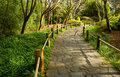 Japanese Garden Walkway Royalty Free Stock Photos