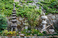 Japanese garden on the way to kofukuji in nagasaki temple Royalty Free Stock Photos