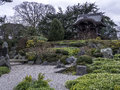 Japanese Gateway Kew Gardens  Winter Royalty Free Stock Photo