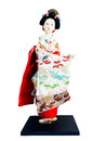 Japanese geisha toy isolated on white background Royalty Free Stock Photo