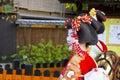 Japanese Geisha women smiling in Kyoto, Japan Royalty Free Stock Photo