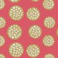 Japanese Gold Cherry Blossom Ball Pattern Royalty Free Stock Photo
