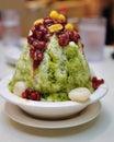 Japanese green tea ice dessert Royalty Free Stock Photo