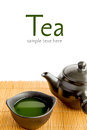Japanese green tea on isolate Royalty Free Stock Image