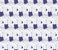 Japanese high seas waves seamless background on repeated pattern design Royalty Free Stock Images