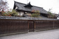 Japanese house in Gion district in Kyoto Royalty Free Stock Photo