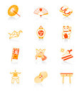 Japanese icons | JUICY series Stock Photo