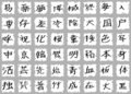 Japanese Kanji Characters Royalty Free Stock Photography