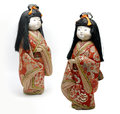 Japanese keisha doll on white background Royalty Free Stock Photo