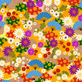 Japanese kimono pattern Royalty Free Stock Photo
