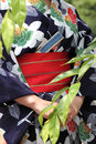 Japanese kimono style traditional clothes of Stock Photography