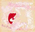 Japanese koi background illustration Royalty Free Stock Photos