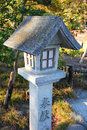 Japanese lantern at shinto temple shrine in japan Royalty Free Stock Photography