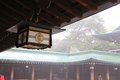 Japanese lantern at temple suspend ceiling Royalty Free Stock Images