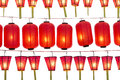 Japanese lanterns isolated on white Royalty Free Stock Photos