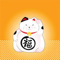 Japanese lucky cat Stock Photography