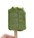 Japanese Matcha Green tea ice cream stick on white Royalty Free Stock Photo