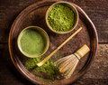 Japanese matcha green tea Royalty Free Stock Photo