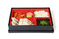 Japanese Meal in a Box (Bento) Royalty Free Stock Photography