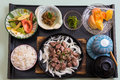 Japanese meals Royalty Free Stock Photo