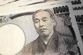 Japanese money banknotes Royalty Free Stock Photo