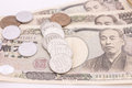 Japanese money on the white background Royalty Free Stock Photography