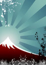 Japanese Mountain Stock Photo