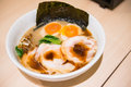 Japanese noodle with other dishes Royalty Free Stock Photo