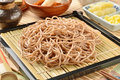 Japanese noodle - soba Stock Images