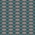 Japanese ocean wave pattern