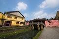 Japanese pagoda or bridge pagoda in hoi an ancient town hoian vietnam jan at january hoian vietnam hoian is recognized as a Royalty Free Stock Photo
