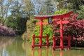 Japanese pagoda at Brooklyn Botanic Garden Royalty Free Stock Photo