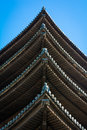 Japanese Pagoda Roof Detail Royalty Free Stock Photo