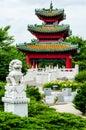 Japanese Pagoda Zen Garden Royalty Free Stock Photo
