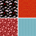 Japanese patterns Stock Images