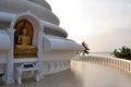 Japanese Peace Pagoda at Rumassala, Galle, Sri Royalty Free Stock Photo