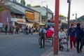 stock image of  Japanese people take rickshaw for sightseeing Arashiyama