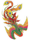 Japanese phoenix isolated vector illustration Royalty Free Stock Photography