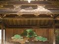 Japanese pine tree painting at itsukushima shrine miyajima japan Stock Images