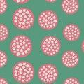 Japanese Pink Cherry Blossom Ball Pattern Royalty Free Stock Photo
