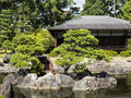 Japanese pond and traditional house in kyoto Stock Photography