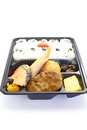 Japanese ready made lunchbox bento on white background Stock Images